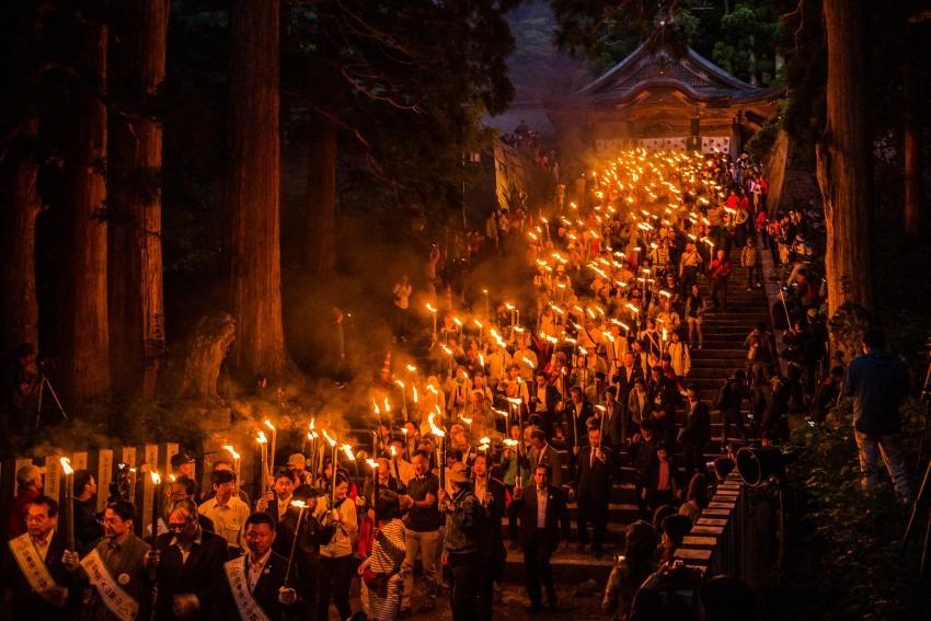 初夏の風物詩 大山夏山開き祭