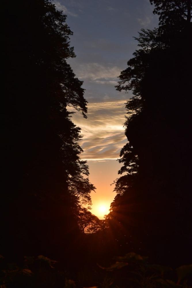 金門に沈む夕陽